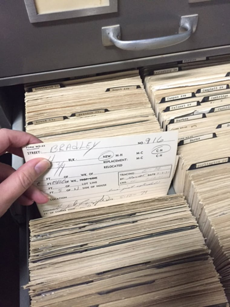The City of Flint's records of which water lines contain lead are mainly kept on these index cards, which officials have been trying to digitize.