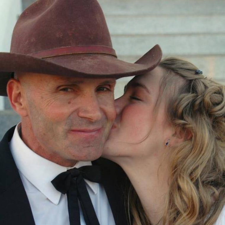 Image: Robert LaVoy Finicum at his daughter's wedding