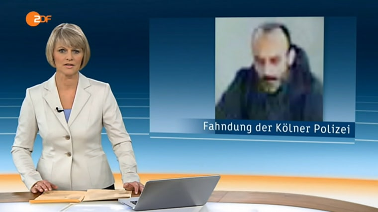 A broadcast by NBC News' German partner ZDF on Wednesday shows a picture of the man suspected of buying chemicals to make explosives.
