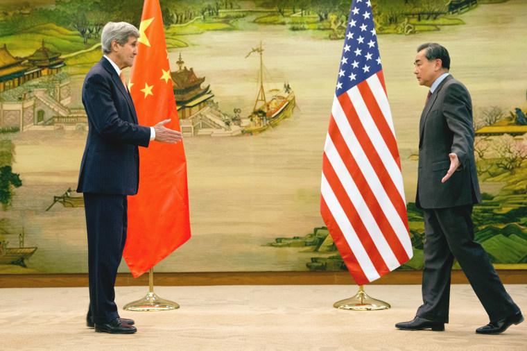 Image: John Kerry, Wang Yi meeting
