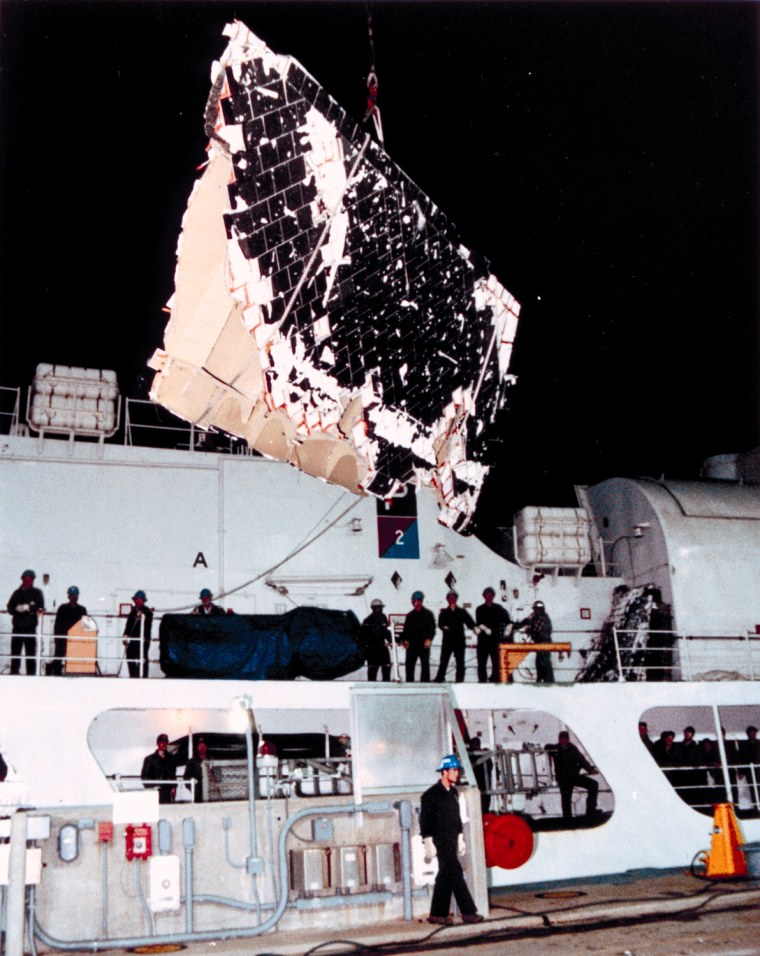 Image: Search and recovery teams retrieve Challenger debris from the Atlantic Ocean