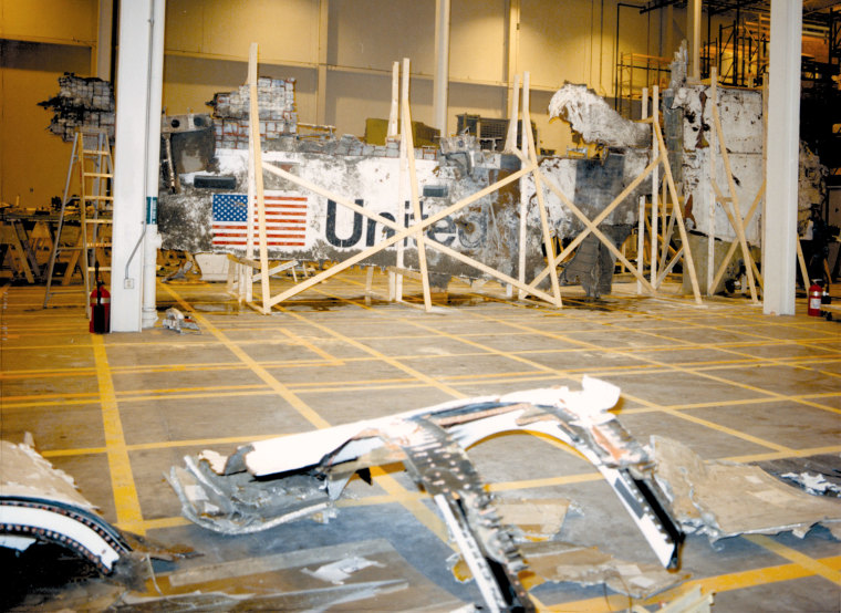 Image: Search and recovery teams located pieces of both the left and right sidewall of the shuttle Challenge