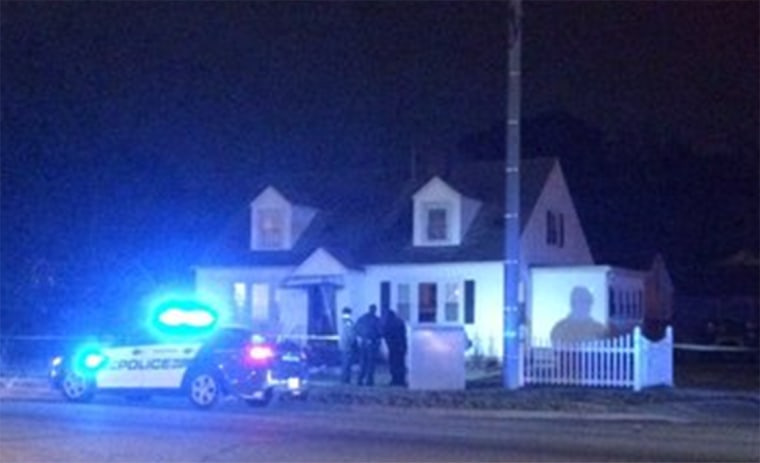 Image: A Photo from the scene where Virginia Police found six relatives dead in two residences