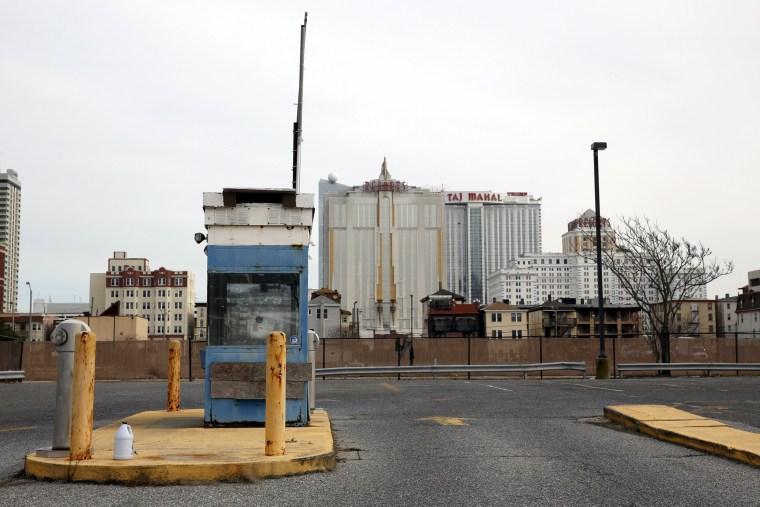 Image: An empty parking lot