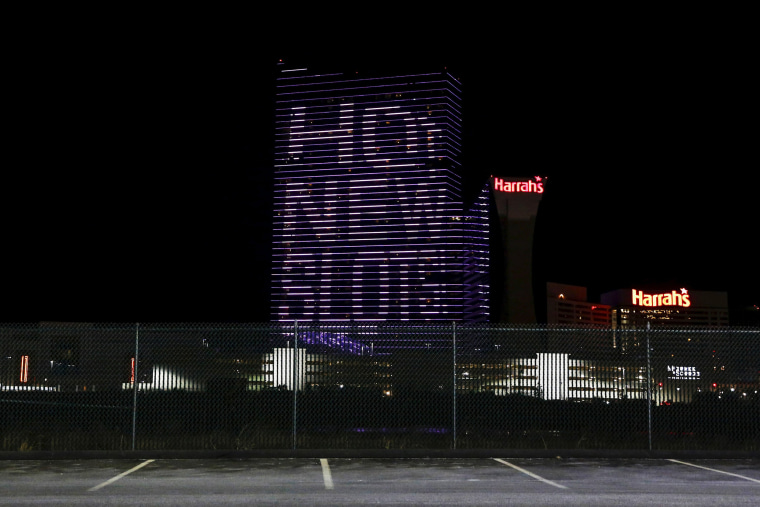 Image: The side of Harrah's Resort Atlantic City
