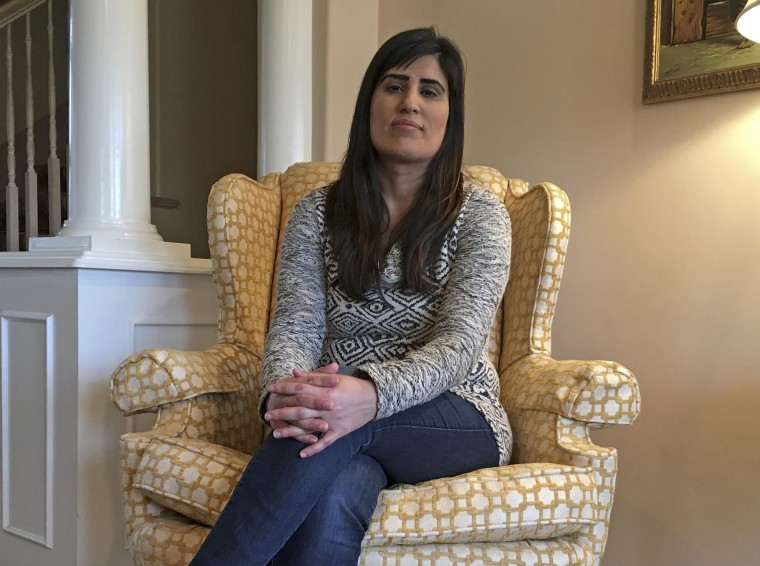 Image: Naghmeh Abedini is pictured in the home of her parents in West Boise, Idaho