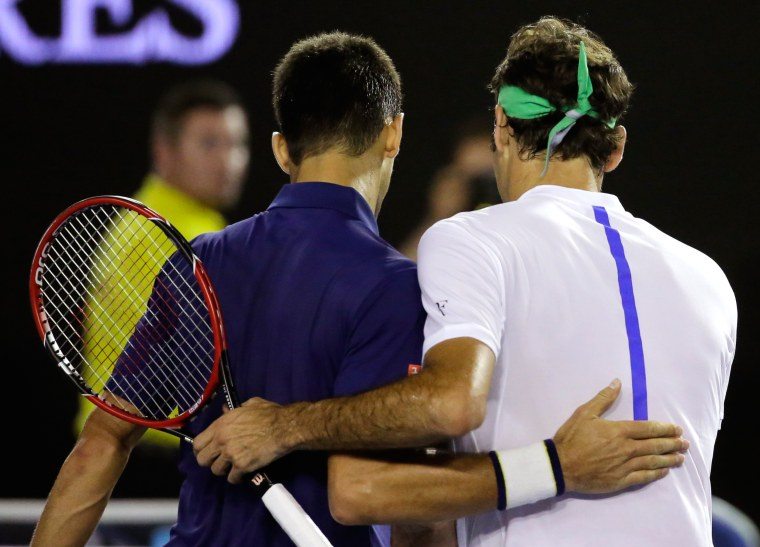 Image: Roger Federer Novak Djokovic