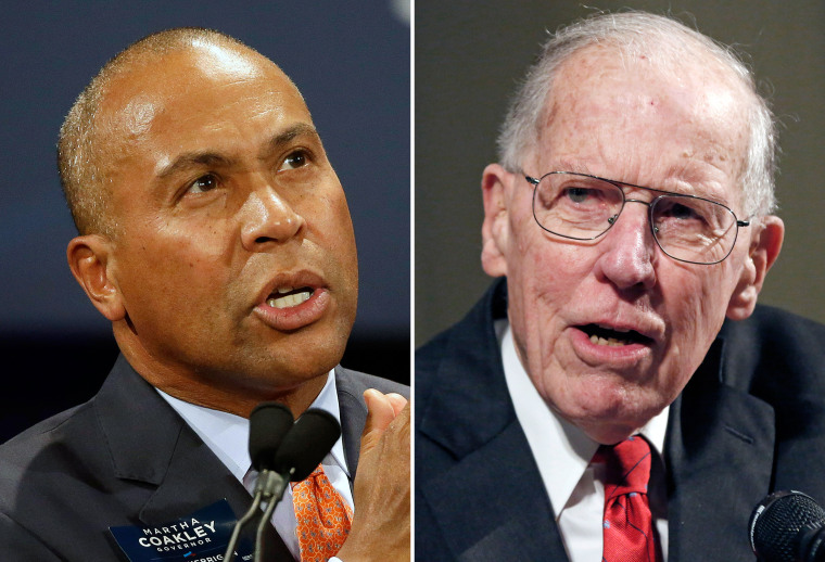 Image: Former Massachusetts Gov. Deval Patrick; Former Mississippi Gov. William Winter