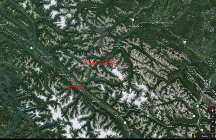 Image: Cananda Avalanche Renshaw area