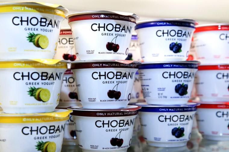 Chobani Greek Yogurt at the Chobani SoHo Café.