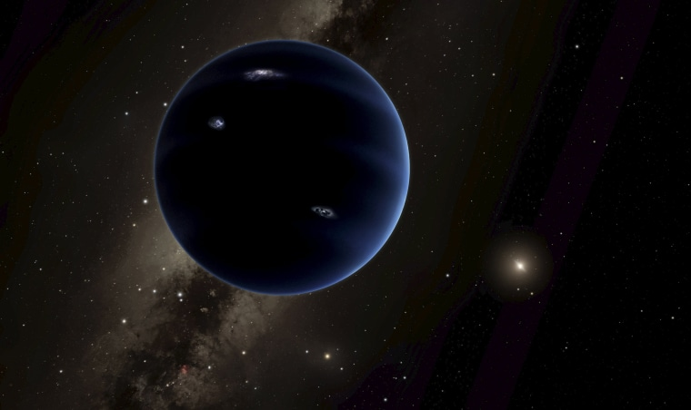 "Image: Handout of an artist's rendering shows the distant view from ""Planet Nine"" back towards the sun in this handout photo provided by Caltech in Pasadena"
