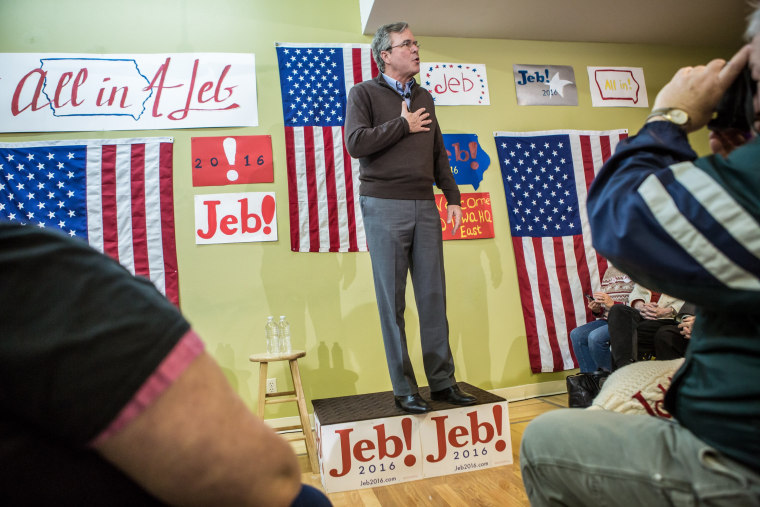 Image: GOP Presidential Candidate Jeb Bush Campaigns Day Ahead Of Iowa Caucus