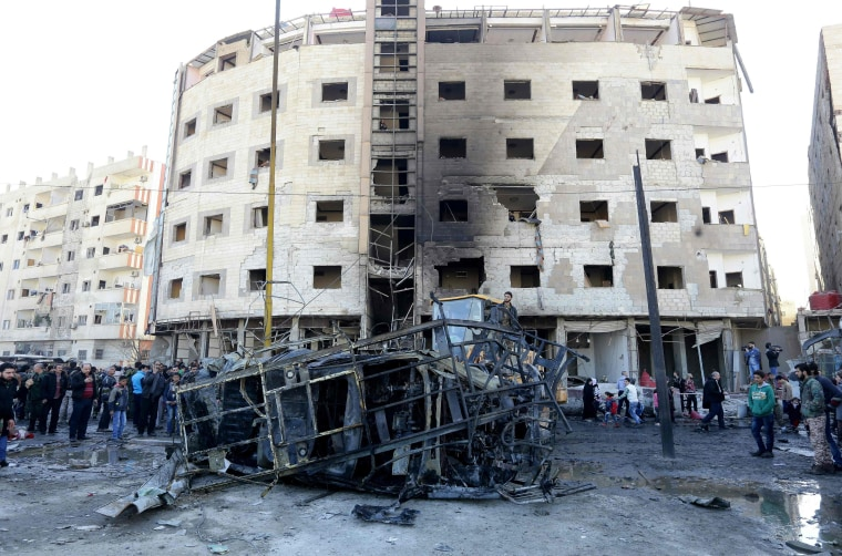 Image: TOPSHOT-SYRIA-CONFLICT-BLAST-SHIITE-RELIGION-IS