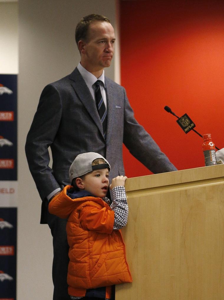 Peyton Manning's son, Marshall