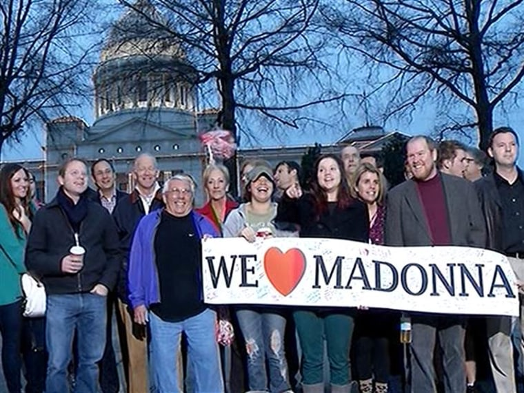 People from Little Rock, Ark., where Madonna Badger is currently living, showed their support for her on TODAY Thursday.
