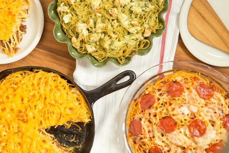 Spaghetti Pie 5 Ways