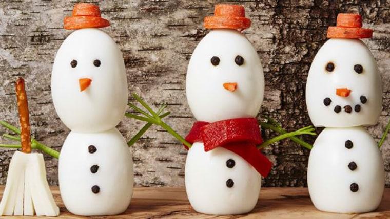 Egg snowmen
