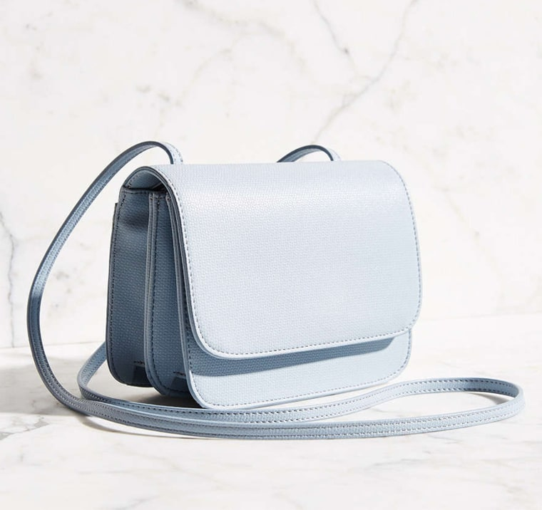 Mini textured crossbody bag luxe for less
