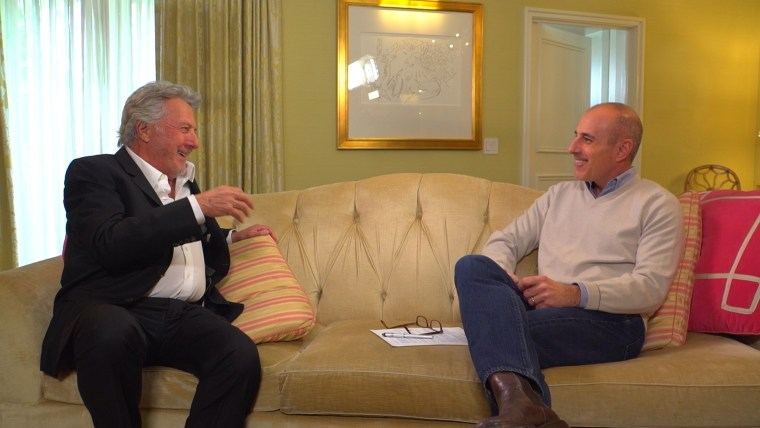 Image: Dustin Hoffman speaks with TODAY's Matt Lauer on upcoming role