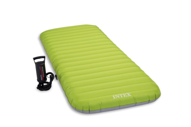 Cot Size Roll'N Go Airbed W/ Fiber-Tech Combo Pump