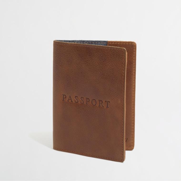 J.Crew Factory Leather Passport Case