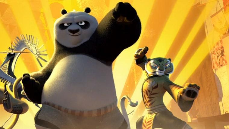 """Po and Tigress from """"Kung Fu Panda 3"""""""