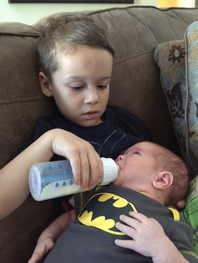 baby brother reaction