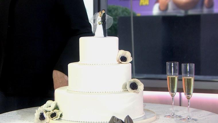 Classic wedding cake.