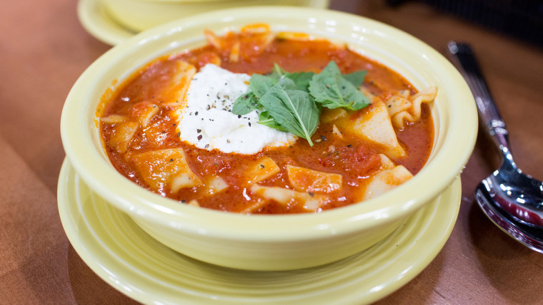 Justin Chapple demonstrates time-saving ways to cook up 5-Ingredient Lasagna Soup