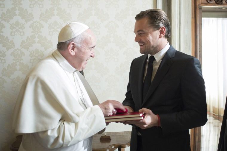 Image: Pope Francis receives Leonardo DiCaprio