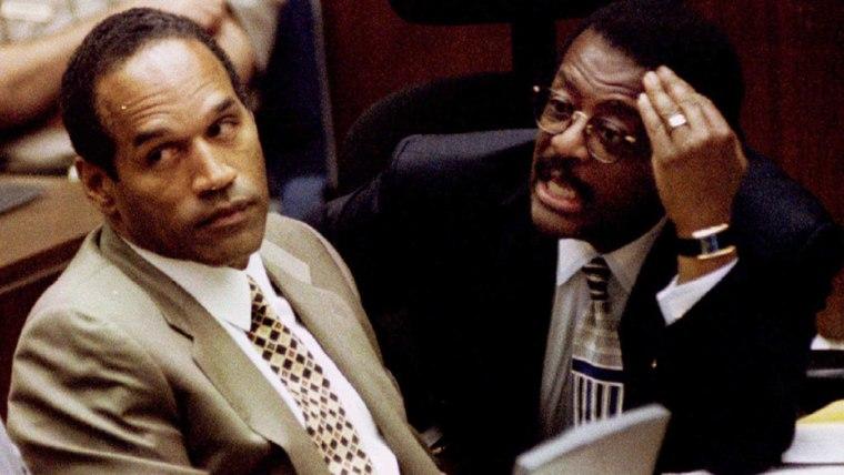OJ Simpson during trial in 1995
