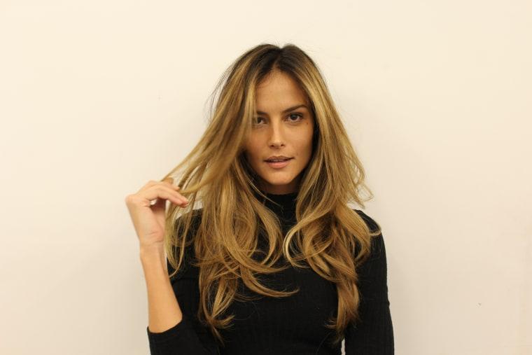 Cinnamon swirl hair on model Natalia Borges