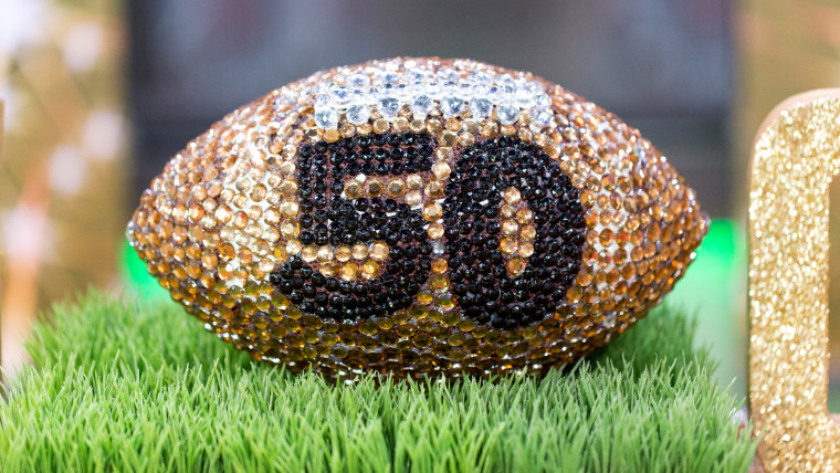 Home and food ideas for your Super Bowl party: bejeweled football