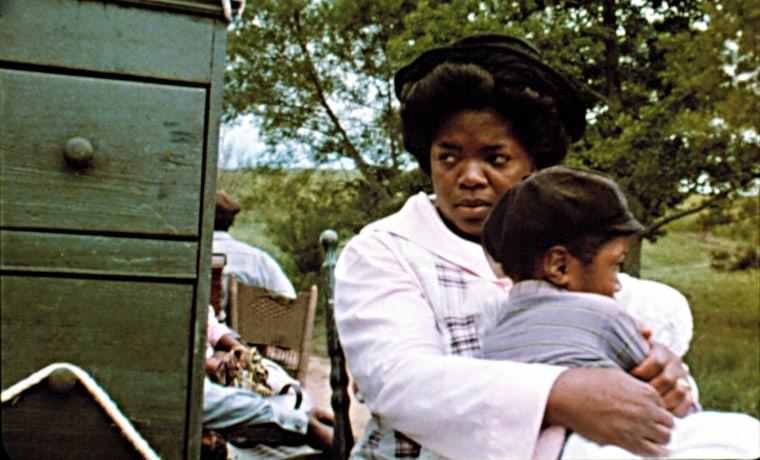 THE COLOR PURPLE, Oprah Winfrey, 1985.