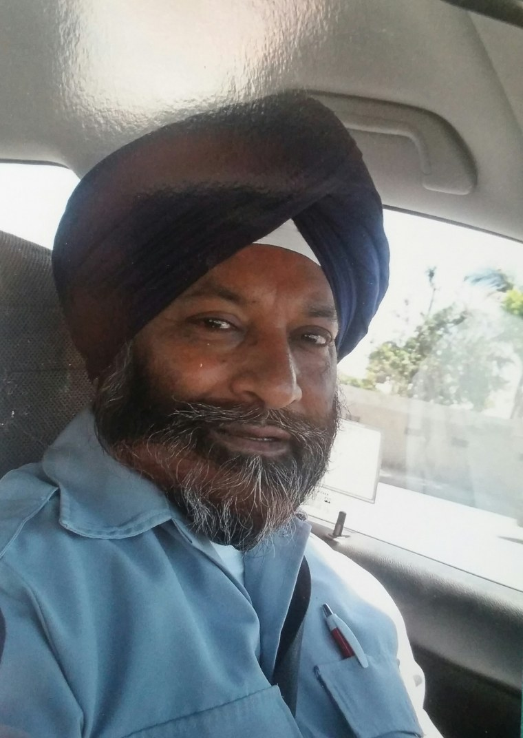 "Sikh-American bus driver Balwinder Jit Singh, who was reportedly attacked by a passenger who also called him a ""terrorist"" and ""suicide bomber."""