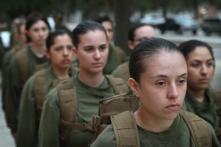 Image: Women Attend Marine Boot Camp At Parris Island, South Carolina