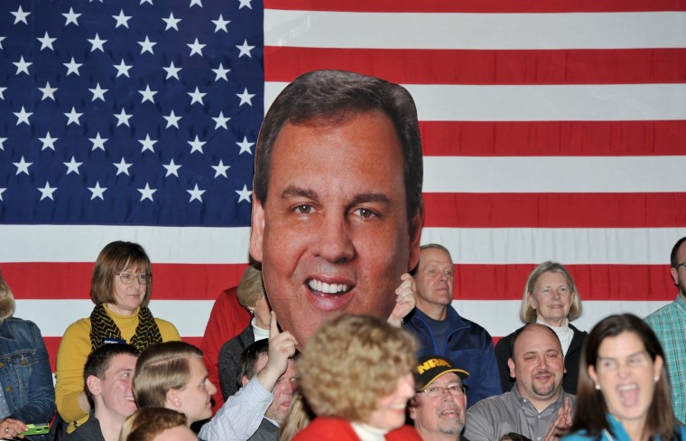 Image: Chris Christie Campaigns In Iowa