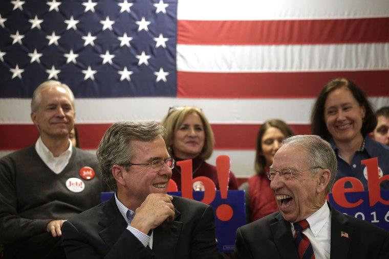 Image:  Jeb Bush Campaigns In Iowa
