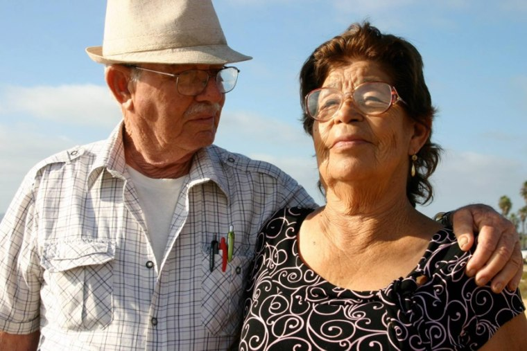 Maria Hurtado and her husband, Salvador.