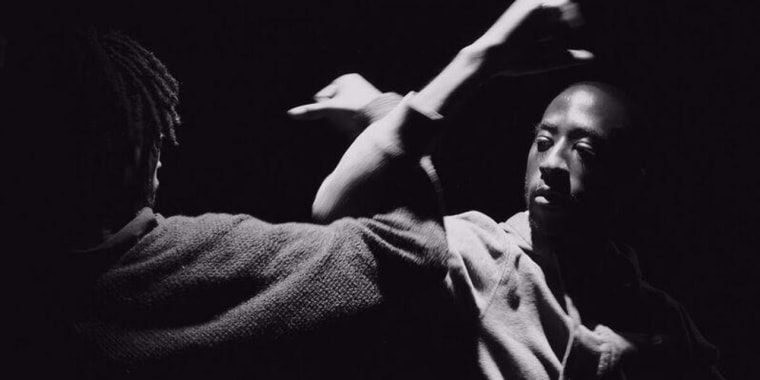 Performers featured in Dapline!, a choreographic collaboration between LaMont Hamilton and André M. Zachery, from the former's Five on the Black Hand Side Project.