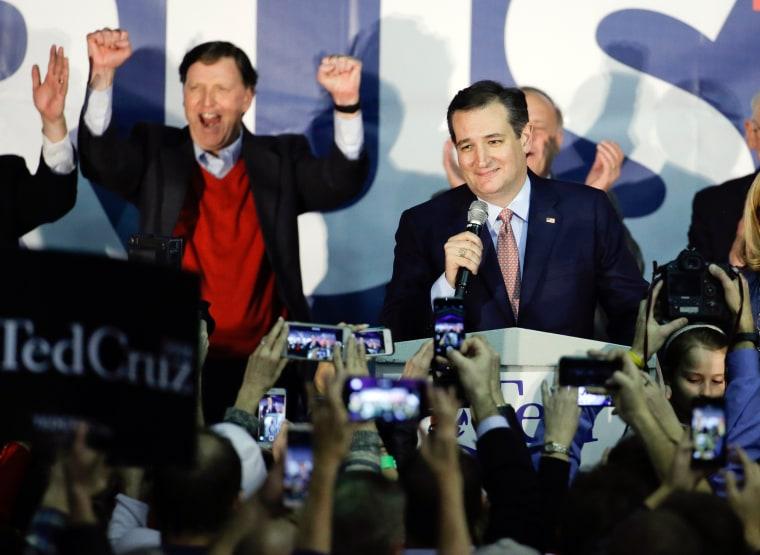 Image: Republican presidential candidate, Sen. Ted Cruz, R-Texas, speaks