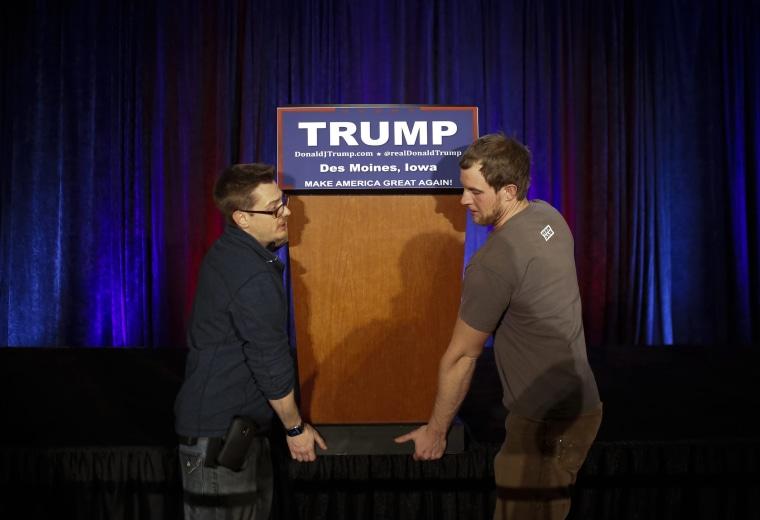 Image: Donald Trump for the Iowa Caucus