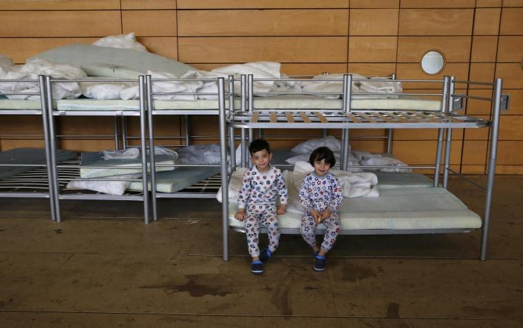 Image: Migrant children from Iraq