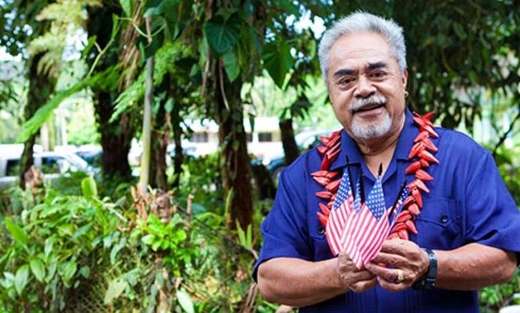 Leneuoti Tuaua, the lead plaintiff in a case seeking American citizenship for people born in American Samoa.