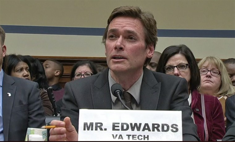 Marc Edwards, a professor at Virginia Tech, speaks at a House hearing about the Flint water crisis on Feb. 3.