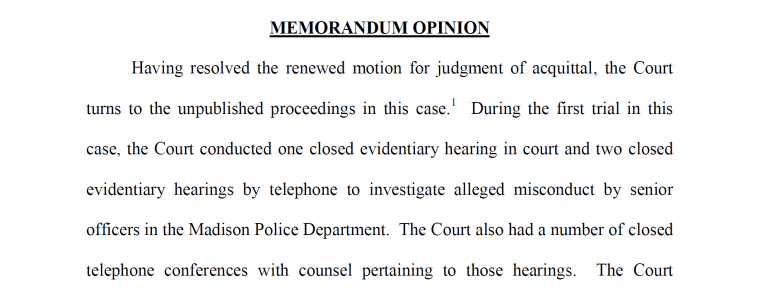 Court documents obtained by NBC News announce the release of transcripts to investigate the alleged misconduct of senior officers in the Madison Police Department.