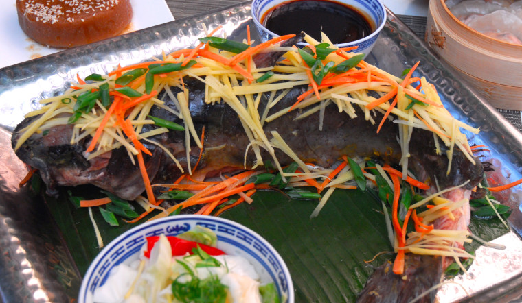"""""""Since catfish symbolizes surplus, serving it is like reinforcing the prospect for prosperity in the new year,"""" says Chef Litesh Hosabettu."""