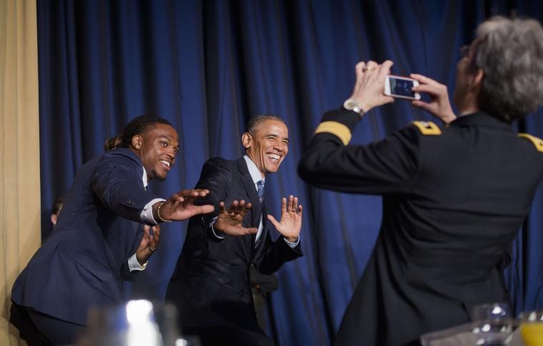 Image: Derrick Henry, Barack Obama