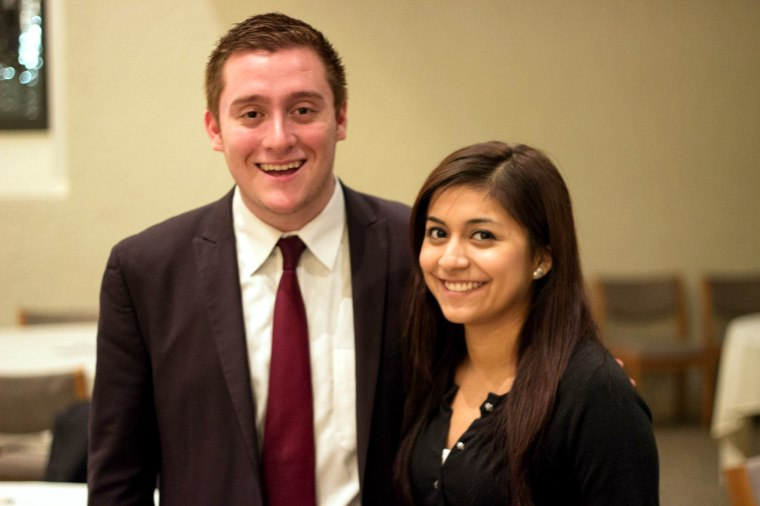 Adriana Robles and Flavio Bravo were part of a group of students who helped make the Magis Scholarship Fund possible last year. At the time, Robles was the president of the Latino American Student Organization and Bravo was the student body president.