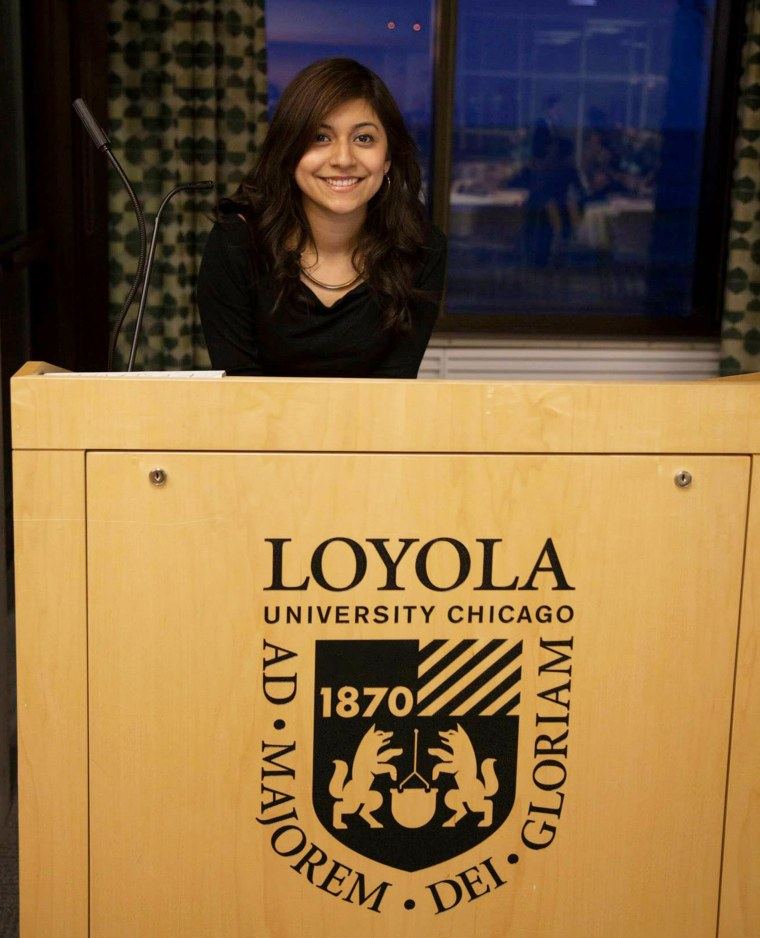 Adriana Robles, a senior at Loyola American Student Organization, was one of the driving forces behind the creation of the Magis Scholarship Fund.
